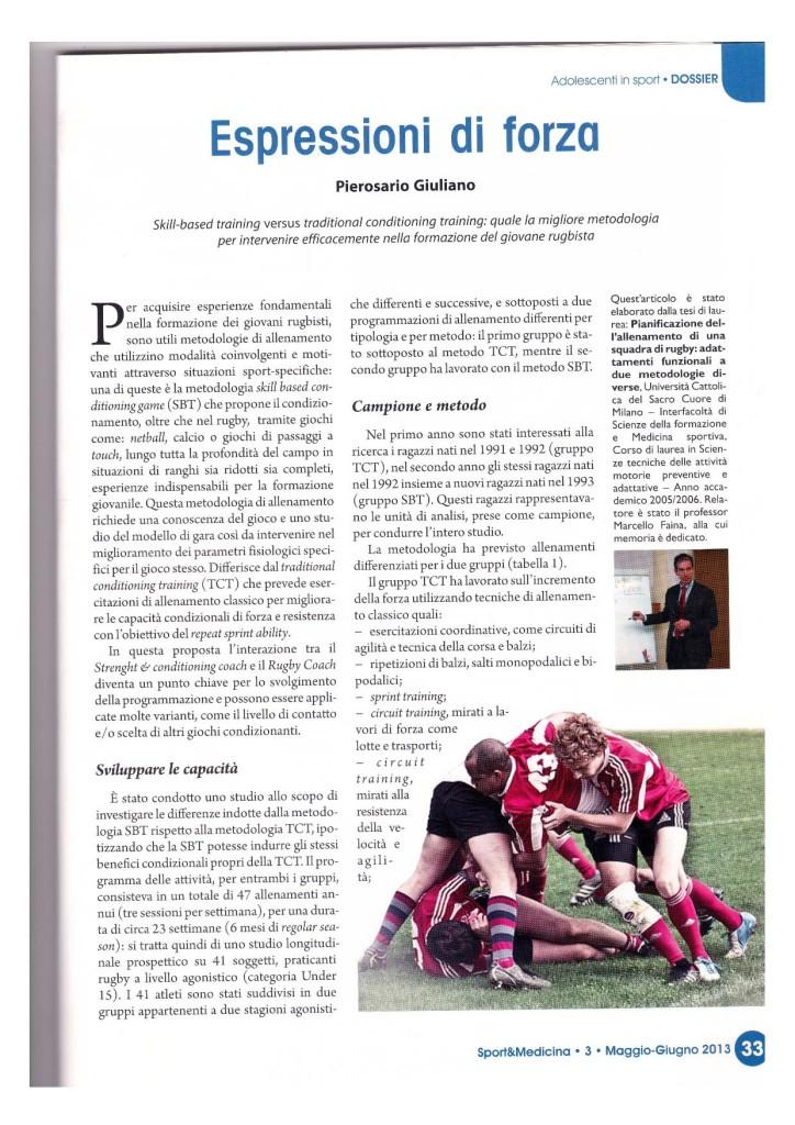 Sport&Medicina maggio-giugno 2013